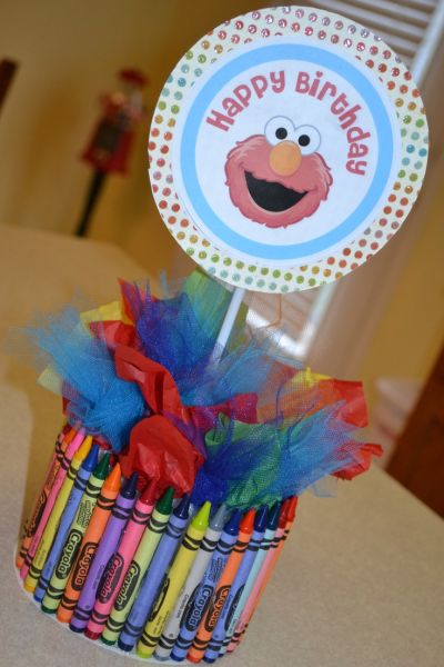 Centerpiece Elmo Birthday Party Ideas