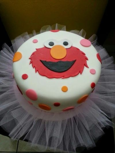 Elmo Birthday Cake Idea For Girls