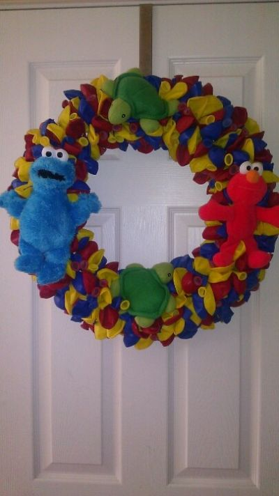 Elmo Birthday Party Ideas Wreath