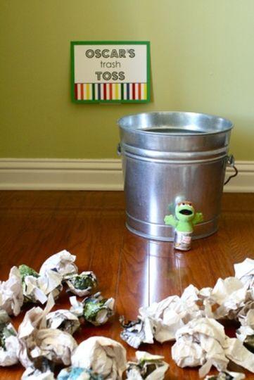 Oscar The Grouch Trash Toss Game