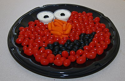 Elmo Birthday Vegetable Display