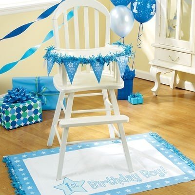 First Boy Birthday Highchair Decoration