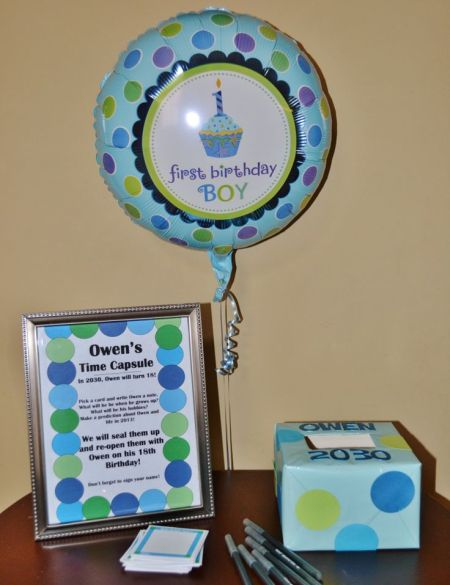 First Boy Birthday Time Capsule