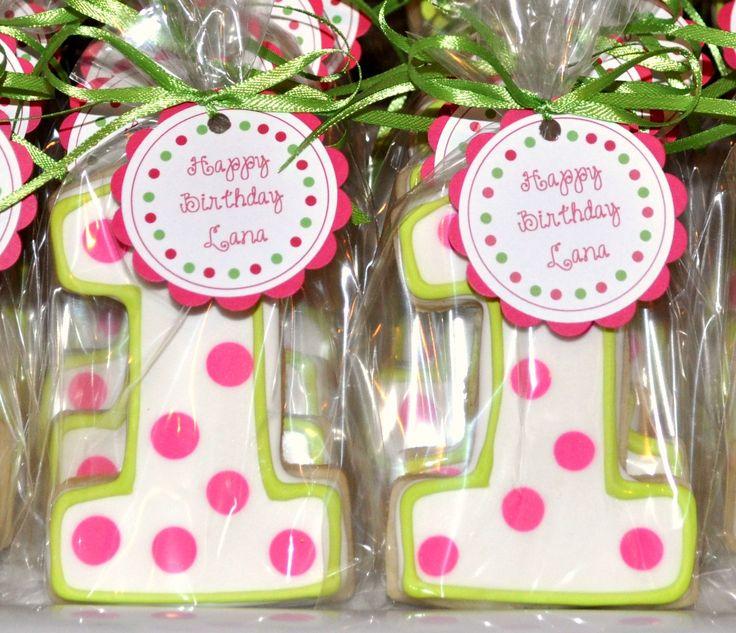 First Girl Birthday Cookie Idea