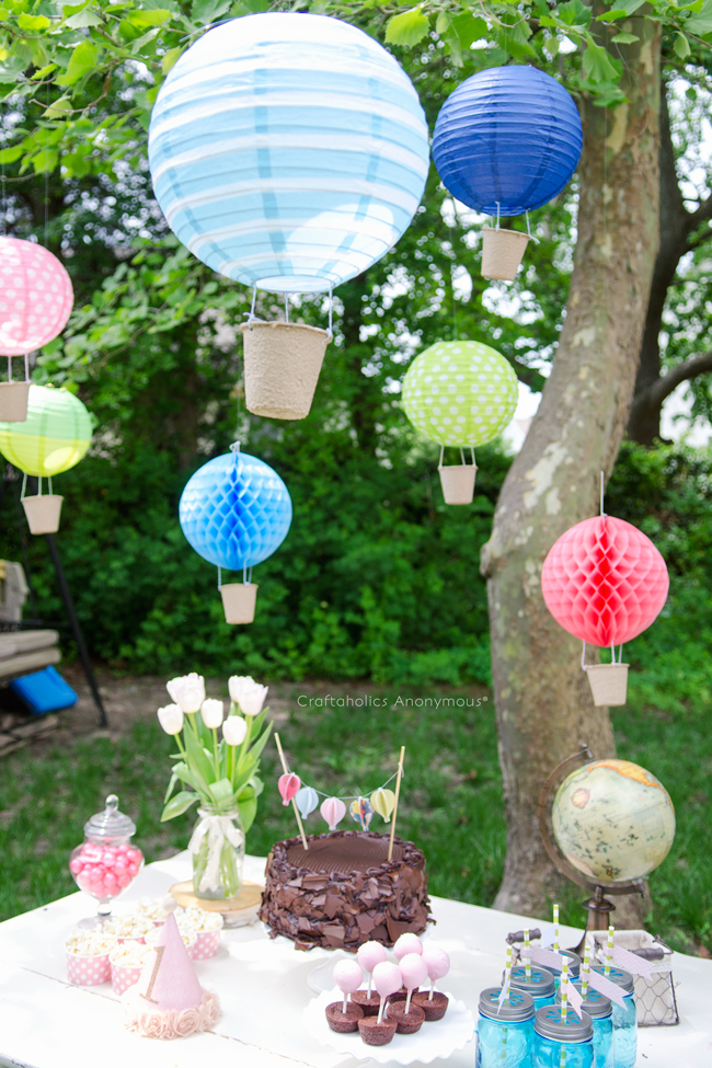 First Girl Birthday Hot Air Balloons