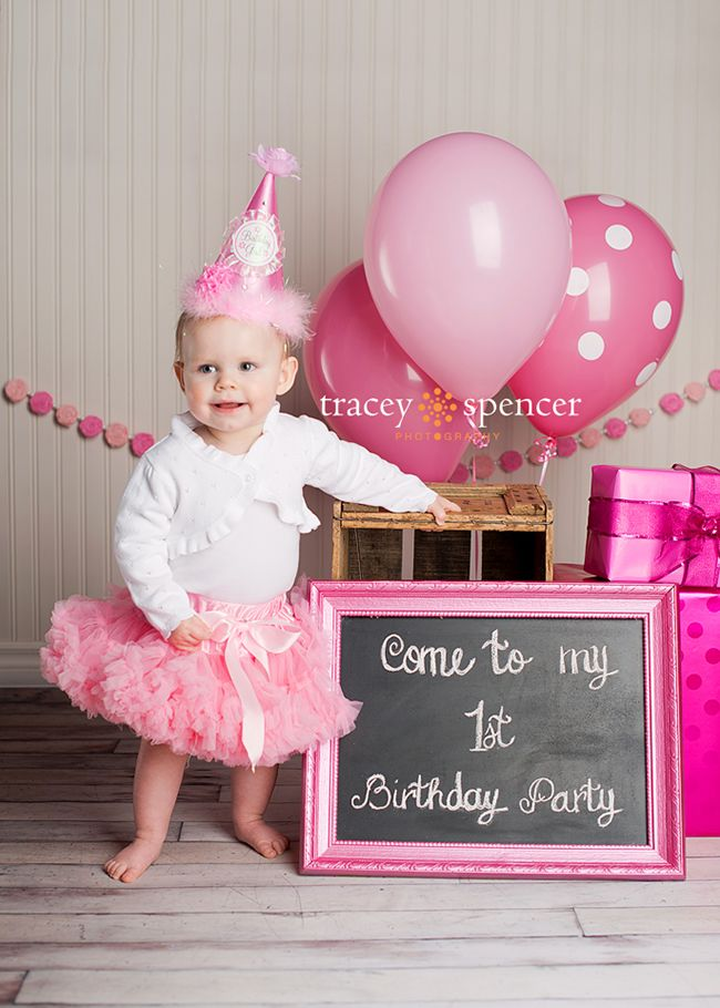 First Girl Birthday Party Sign