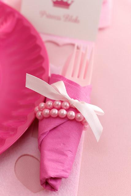 First Girl Birthday Pearl Napkin Ring