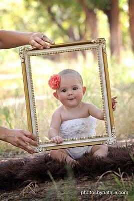 First Girl Birthday Photo Idea