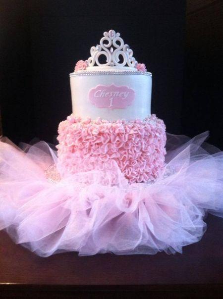 Fairy Tale First Girl Birthday Cake Idea