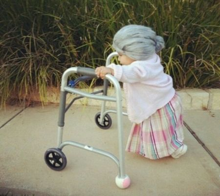 Toddler Grandma Halloween Costume