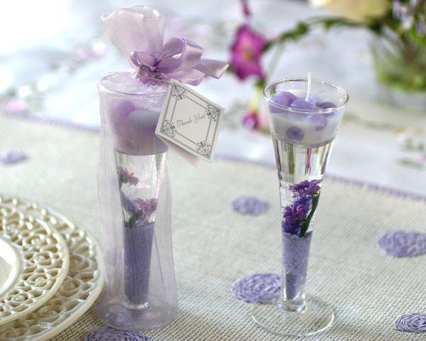 Lavender Gel Candle Wedding Favors