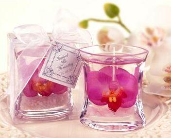 DIY Gel Candle Wedding Favor