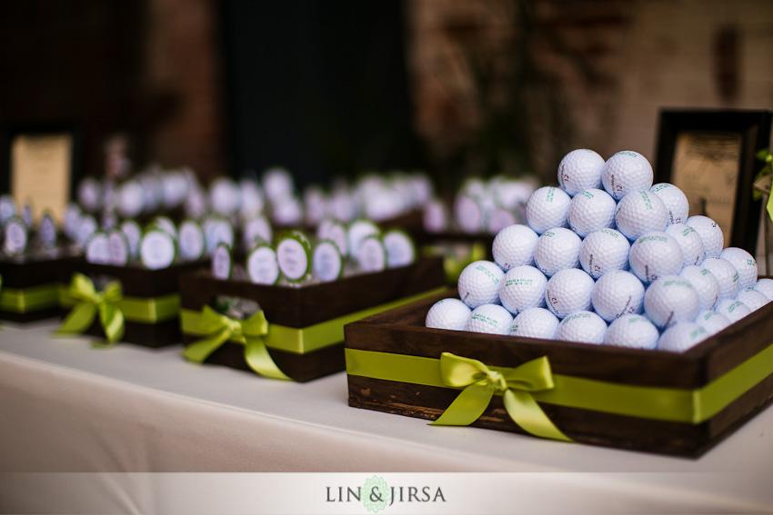 Golf Themed Wedding Ideas Display