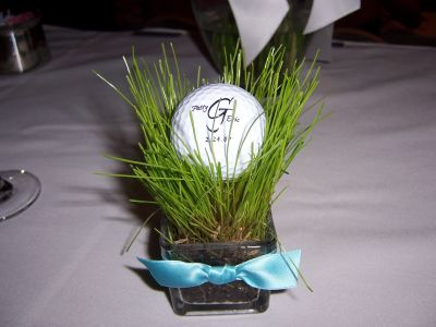 On The Green Golf Themed Wedding Favors