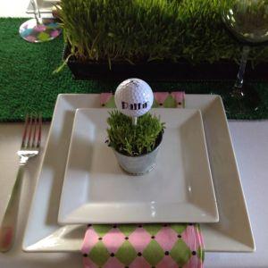 Green Golf Themed Wedding Favors
