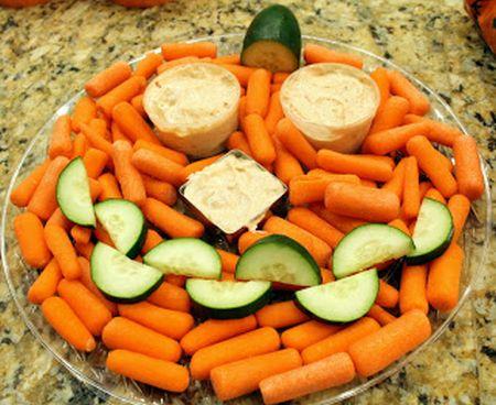Vegetable Halloween Appetizers