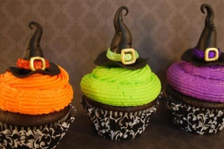 Colorful Halloween Cupcakes