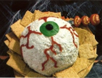Creepy Peepers Halloween Appetizers
