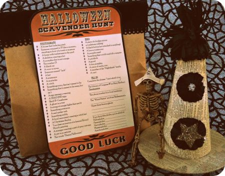 Scavenger Hunt Halloween Kids Games