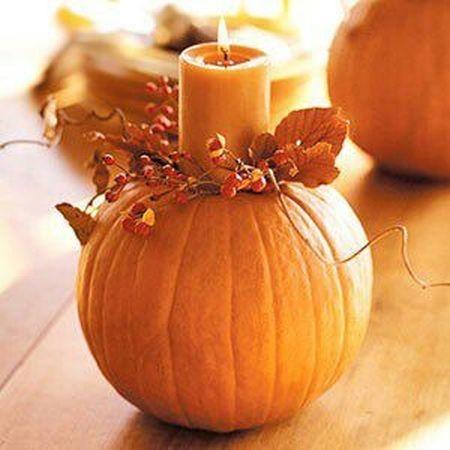 Candle Halloween Pumpkin Carving Idea