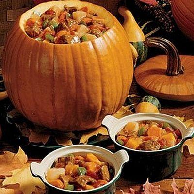 Pumpkin Stew Halloween Party Food