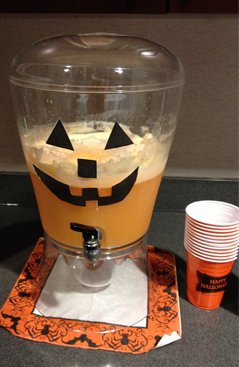 Halloween Party Punch In Dispenser