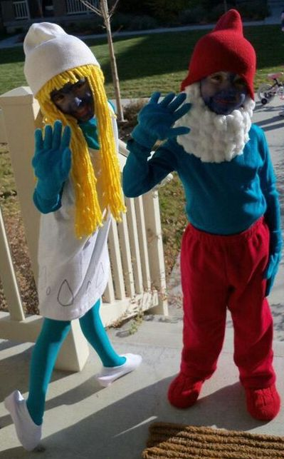 Smurfette And Papa Smurf Costumes