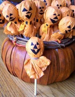 Halloween Pumpkin Lollipops