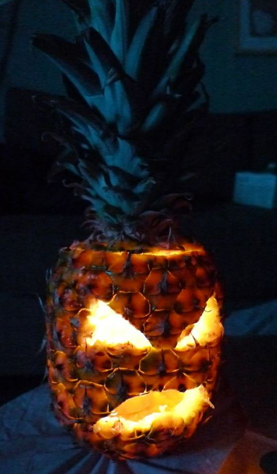 Halloween Pineapple Centerpiece