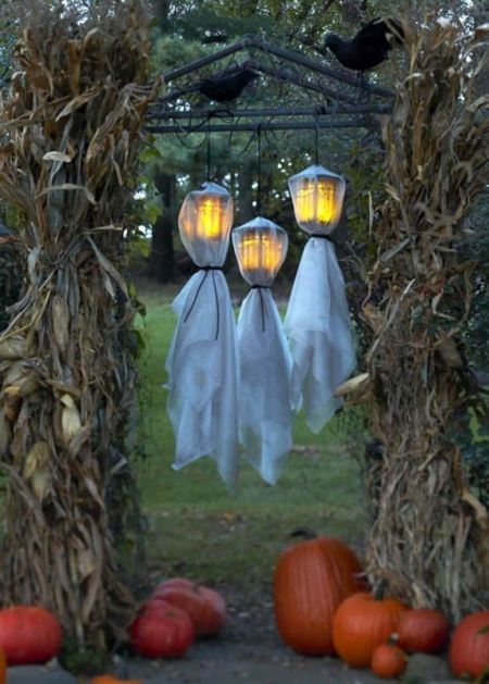 Ghost Lamps Halloween Yard Decorations