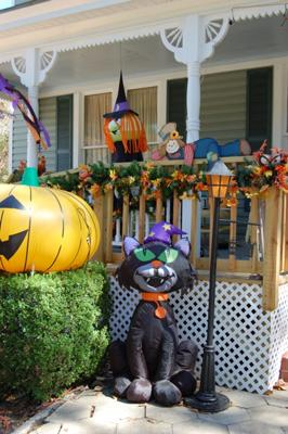 Inflatable Cat Halloween Yard Decorations