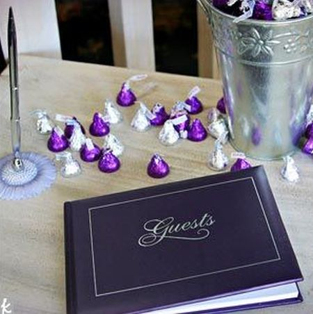 Hershey Kiss Wedding Decorating Idea