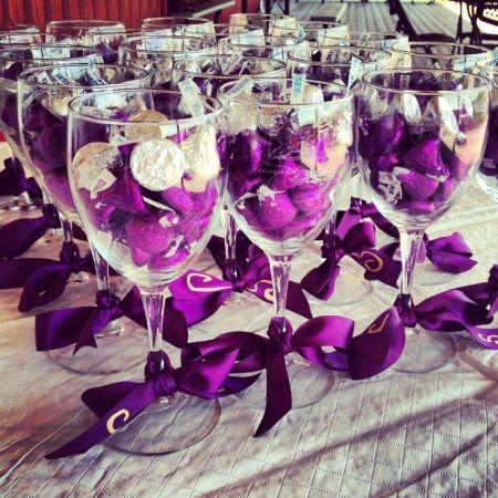 Jewel Toned Hershey Kiss Wedding Favors