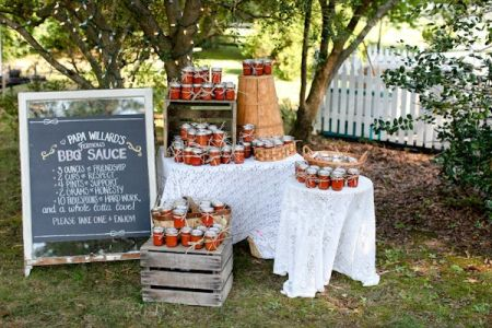 Ideas For Homemade Wedding Favors With BBQ Sauce