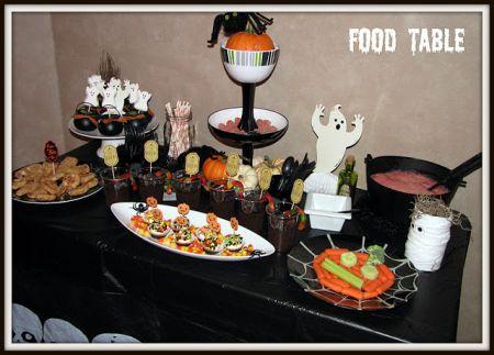 Halloween Treats For Kids Buffet