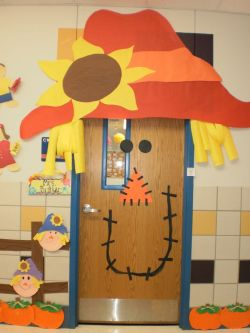 Kindergarten Halloween Door