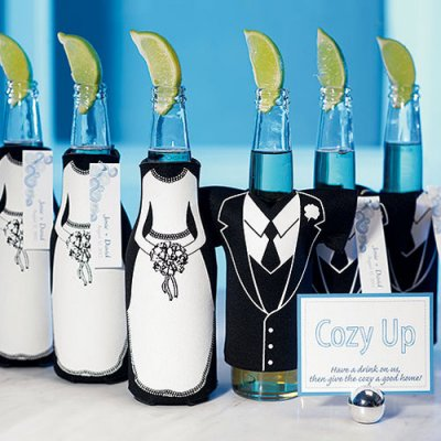 Bride And Groom Wedding Favor Koozie