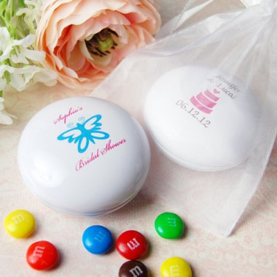 M&Ms Wedding Favor Tins