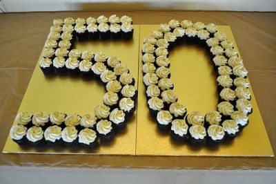 Planning A 50th Birthday Party Cupcake Display