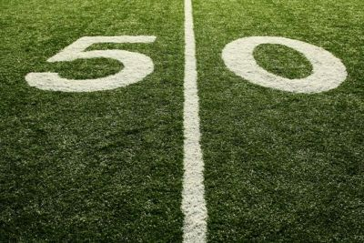 50 Yard Line Photo For 50th Birthday