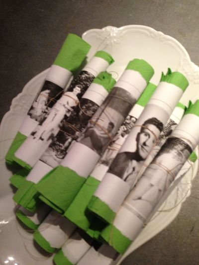 Planning A 50th Birthday Party Napkin Ring