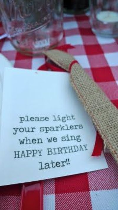 Planning A 50th Birthday Party Sparkler Idea