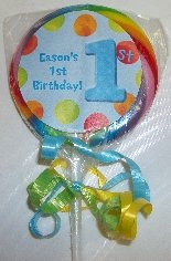 First Boy Birthday Lollipop Decoration
