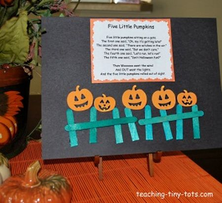 Five Little Pumpkins Halloween Craft