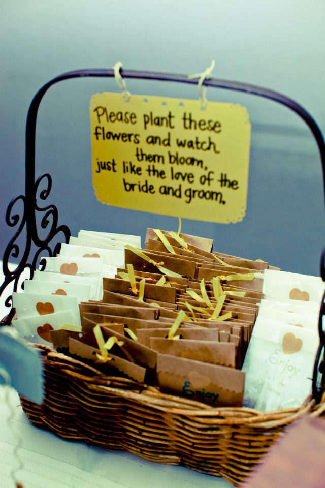 Budding Idea For Seed Packet Wedding Favors