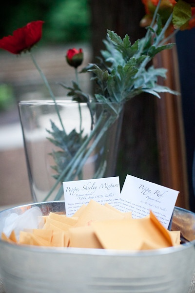 Seed Packet Wedding Favors Display