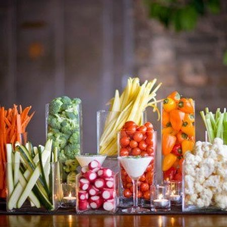 Vegetable Appetizer Glass Display
