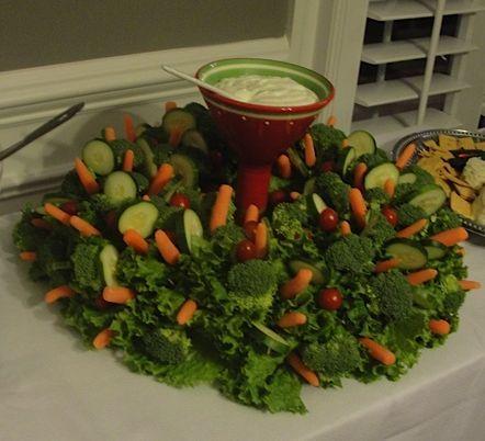 Vegetable Appetizer Wreath