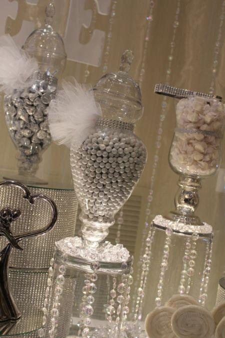 Sparkling Wedding Candy Buffet