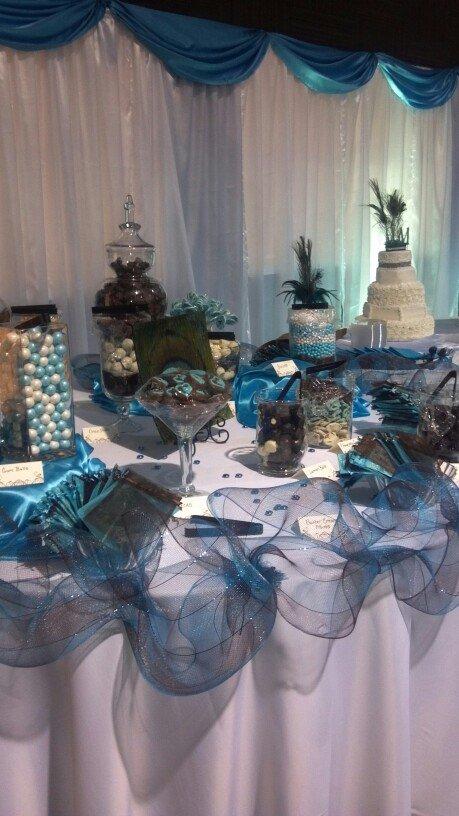 Wedding Candy Buffet Vivid Blue
